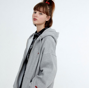 2018 autumn and winter new Korean KIRSH cherry hooded jacket female college wind loose plus velvet sweater ins super fire