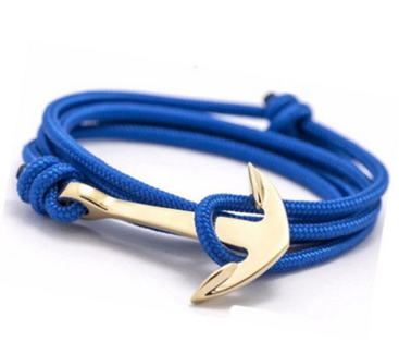 Anchor Decoration Rope Bracelet