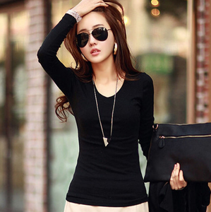 Long Sleve Solid Color Slim Shirt