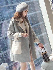 Autumn and Winter Stylish Long Woolen Coat