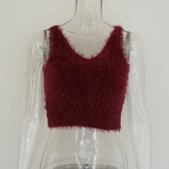 Strapless Lumo Mohair Sweater Crop Top