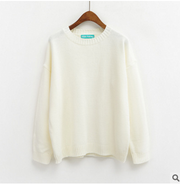 Women Candy Colors Pullover Sweater