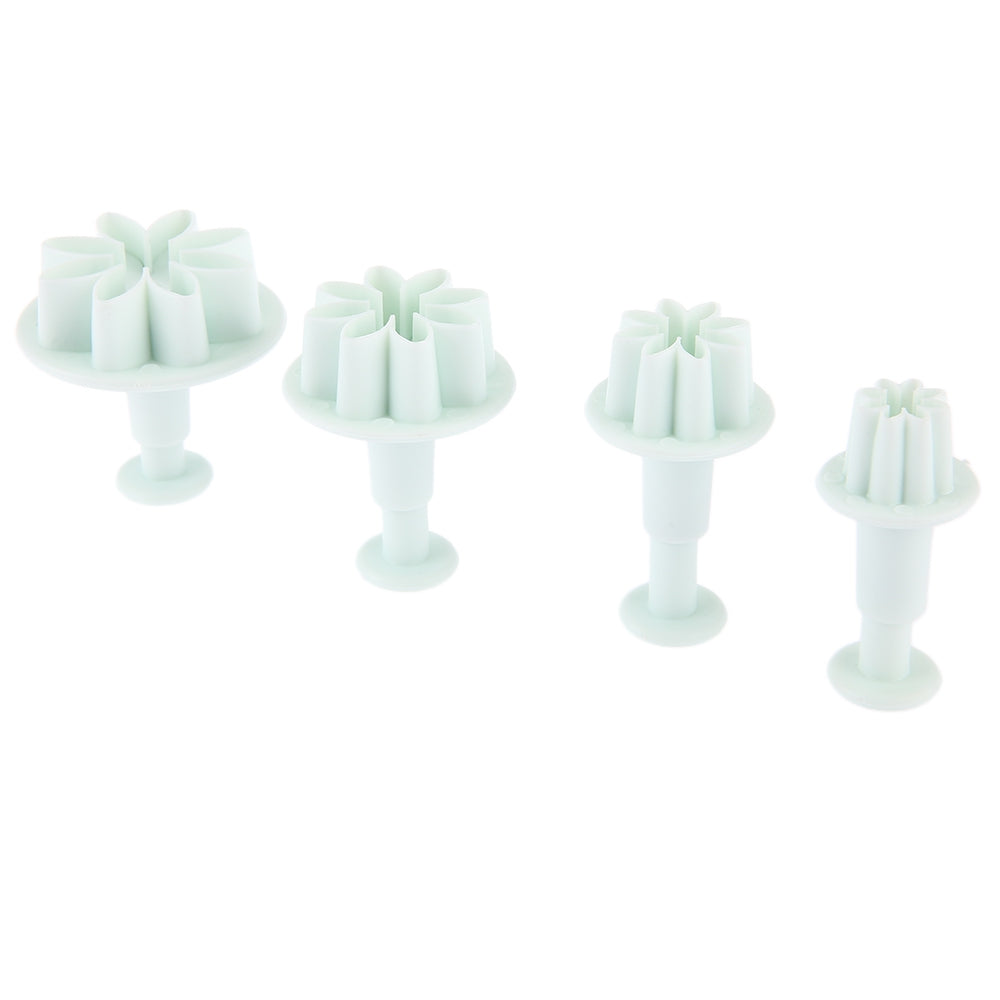 4pcs Sunflower Plastic Plunger Daisy Flower Cookie Cake Decorating Fondant Mold
