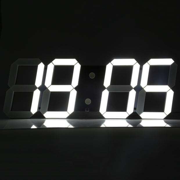 Remote Control Big LED Digital Wall Clock Stopwatch Thermometer Countdown Calendar