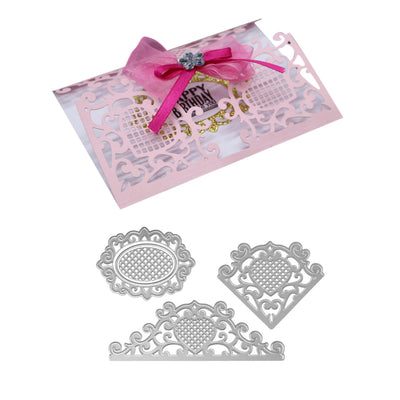Lace Style Metal Cutting Dies Set for Greeting Card Cover