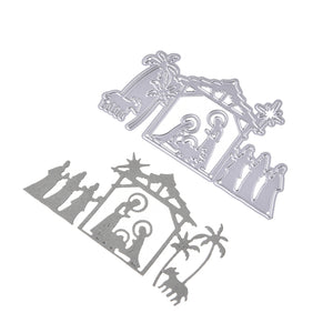 Scene Pattern Stencil Mould Carbon Steel Embossing Plate Cutting Die for DIY Cards Scrapbooking