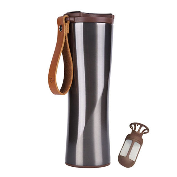 Xiaomi KissKissFish MOKA Stainless Steel Portable Smart Coffee Cup Travel Mug with OLED Touch Screen Temperature Display 430ml