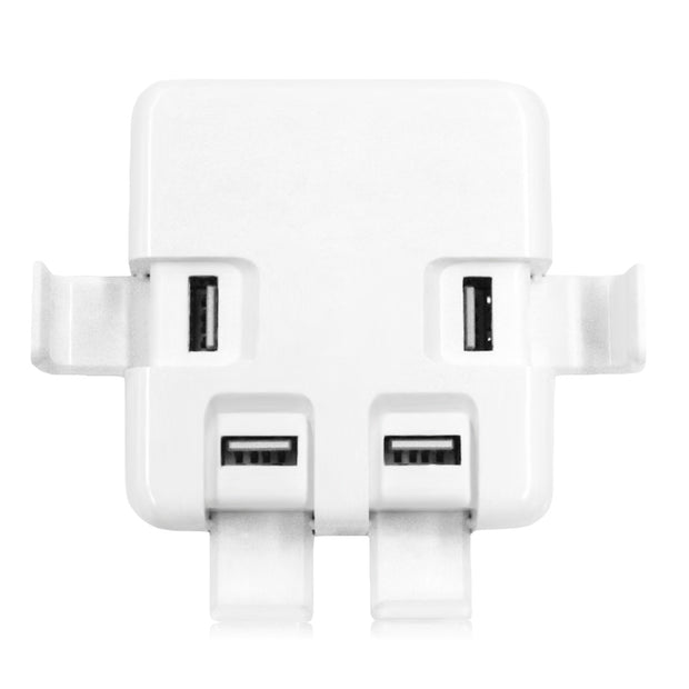 20W 4A 4 USB Power Adapter Charger Socket Holder Charging Dock