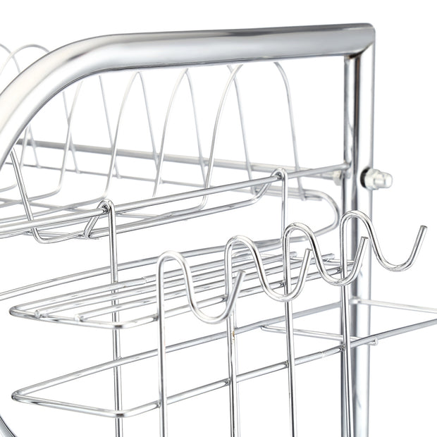 Stainless Carbon Steel Tableware Storage Rack Three Layers Cup Holder