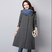 Women's Quilted  Vintage Thicken Long Trench Coat
