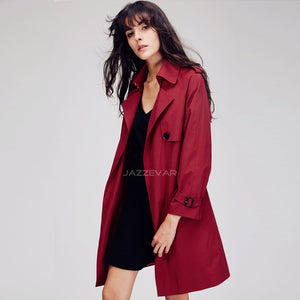 Autumn New Fashion Women's Casual  Formal Coat With Belt