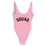 Squad Letter Print One-piece Swimsuit