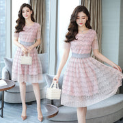 Slim-fit a-line chiffon dress