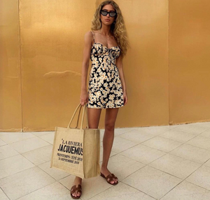 Europe and the United States new 2019 Amazon summer foreign trade explosion models sexy sling bag hip straps slim dress skirt