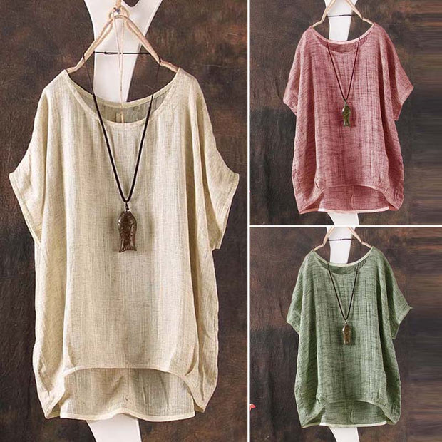 Casual loose linen top