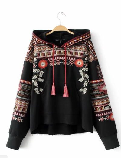 Embroidered Hippie Sweater