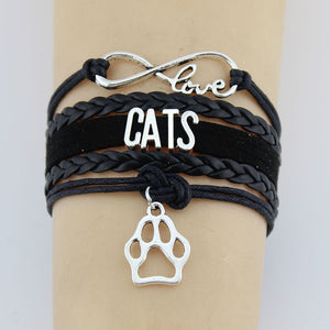 Hand-knitted Cats Animal Paw Braided Bracelet