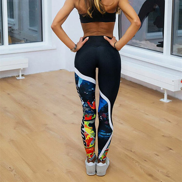 Printed Skinny Fitness Leggings