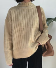 Thicker Warm knit Stripe Sweater
