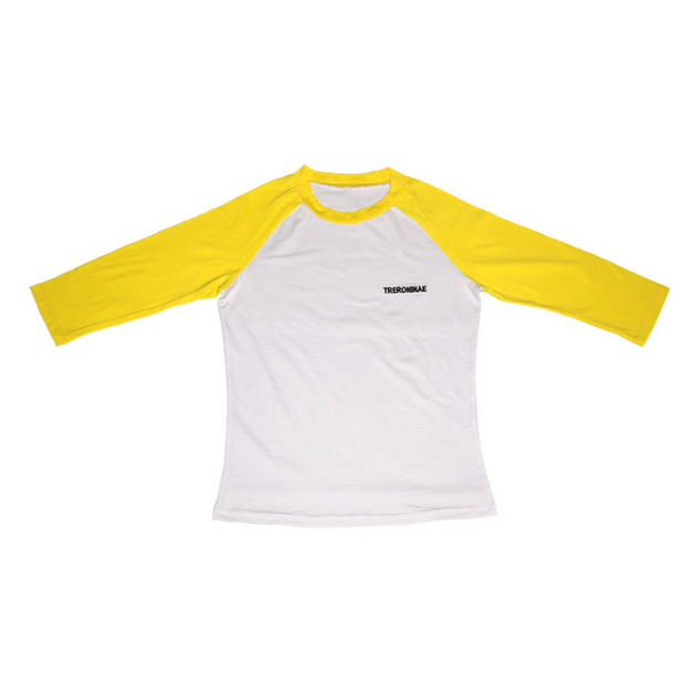 Women Color Block Raglan Sleeve Shirt