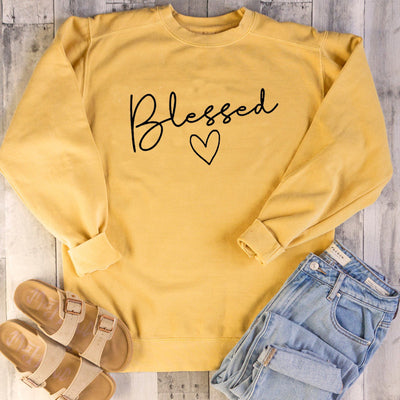Long-sleeved sweater blessed love pattern European and American trend letters casual tops