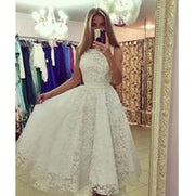 Women Ruffled Lace Fishtail Gown