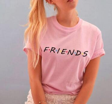 Summer Short-sleeve Letter Print Tee