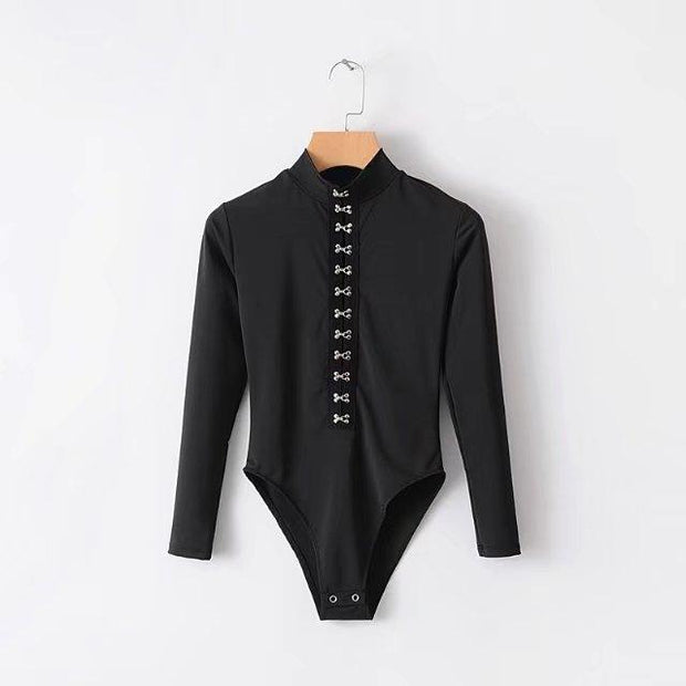 Buckle Down Long Sleeved Bodysuit