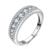 Diamond ring in 925 sterling silver