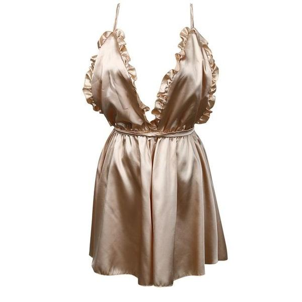 Women Sexy Backless Satin Silk Playsuit