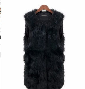 Sleeveless Faux Fur Vest Coat
