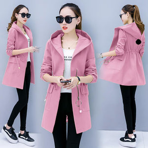 Medium length windbreaker female