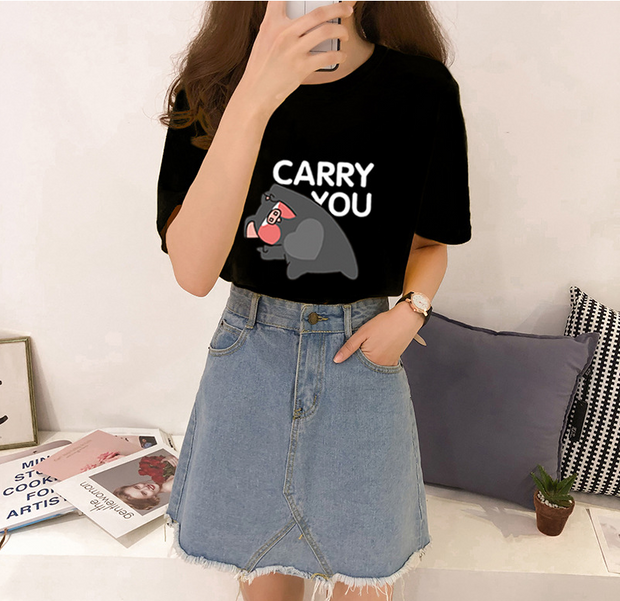 Funny Printed Cute short-sleeved T-shirt