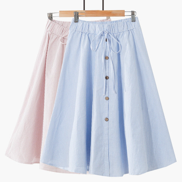 Summer high waist new wild skirt skirt A word skirt college wind