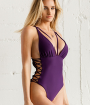 Black Monokini Bandage One-piece Swimwear