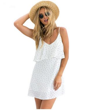 Strappy Polka Dot Mini Dress