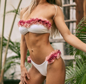 Ruffled Bikini Set for Beach Vacation