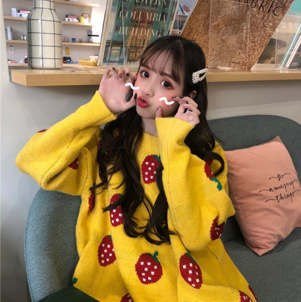 Autumn and winter 2018 new Korean version of loose thickening net red Hinged ins super fire sweater female chic students