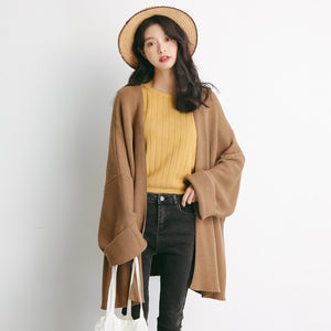 2018 autumn new outfit knit in the long section cardigan casual wild sweater women's jacket