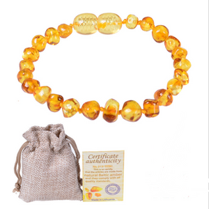 Baltic Natural Amber Baby Bracelet