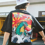 Men's Retro Cartoon Dinosaur Print Tee