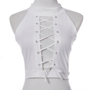 Overlord Lace-up Halter Top