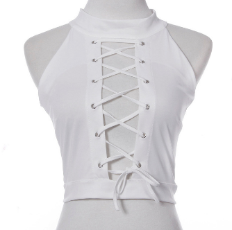 Overlord Lace Up Choker Top