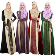 Muslim Fashion Long Sleeve Dress National Dress