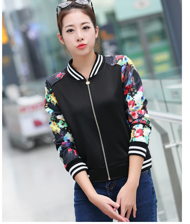 Printed Long Sleeve Fashion Jacket