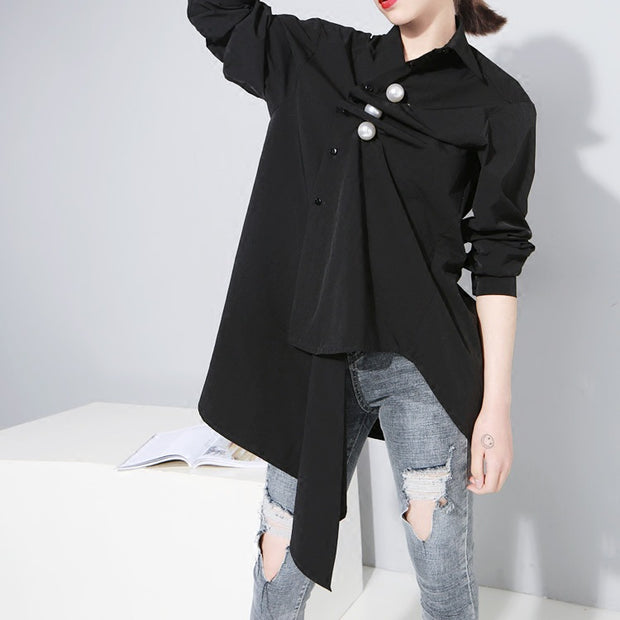 Irregular Solid Color T-shirts