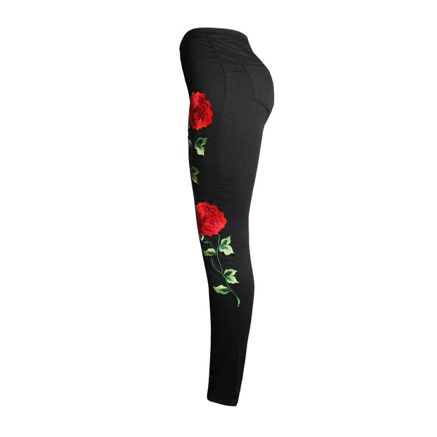 Women's 3D Embroidery Skinny Jeans