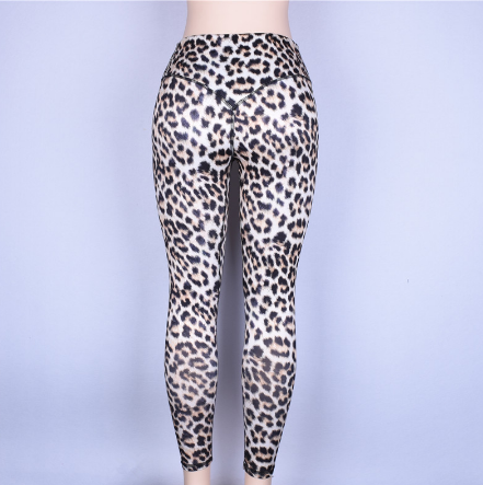 High waist leopard leggings women sportswear fitness clothing athleisure sexy legging activewear pants