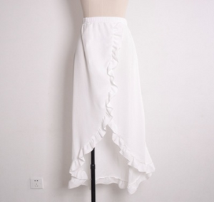 Ruffled Sexy Lace-up Skirt