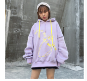 Harajuku Embroidered Velvet Loose Hoodies